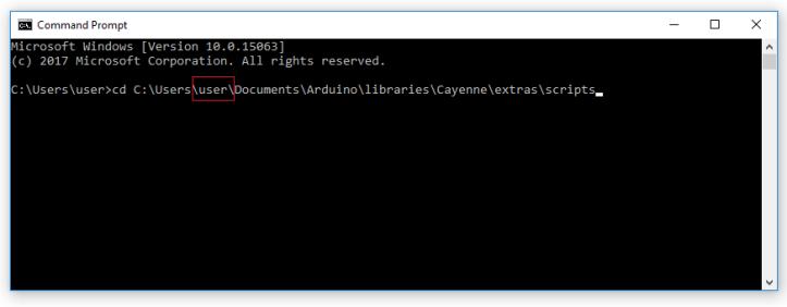 Cayenne USB Serial - 09 Go to Scripts folder